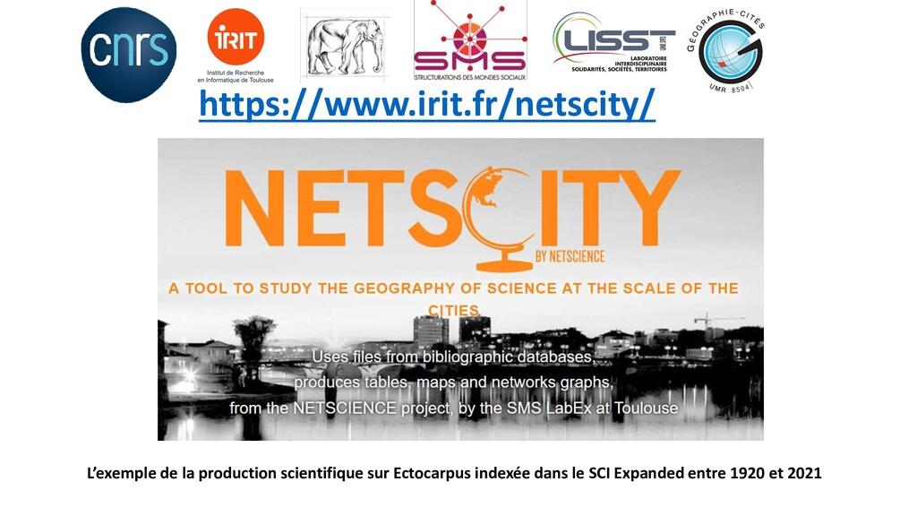 https://www.irit.fr/netscity/ L'exemple de la p...