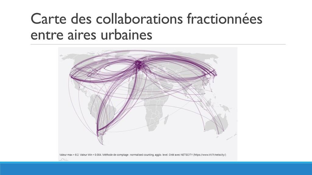 Carte des collaborations fractionnées entre air...