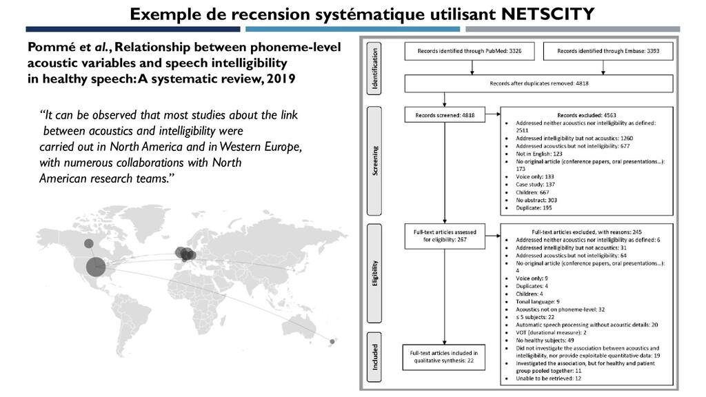 Exemple de recension systématique utilisant NET...