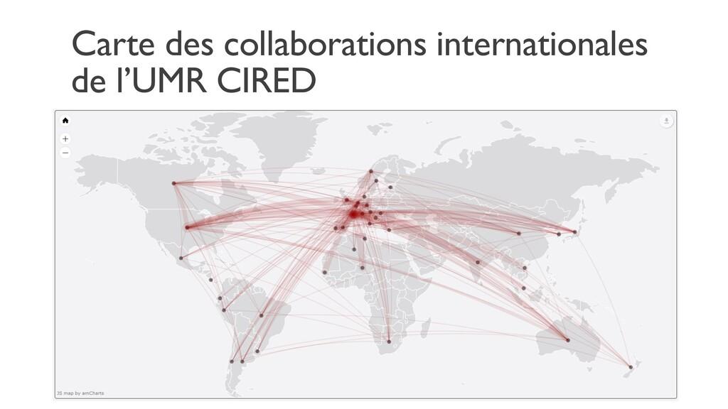 Carte des collaborations internationales de l'U...
