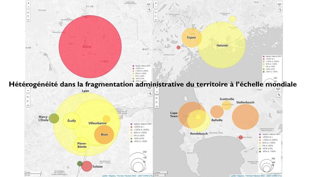 Hétérogénéité dans la fragmentation administrat...