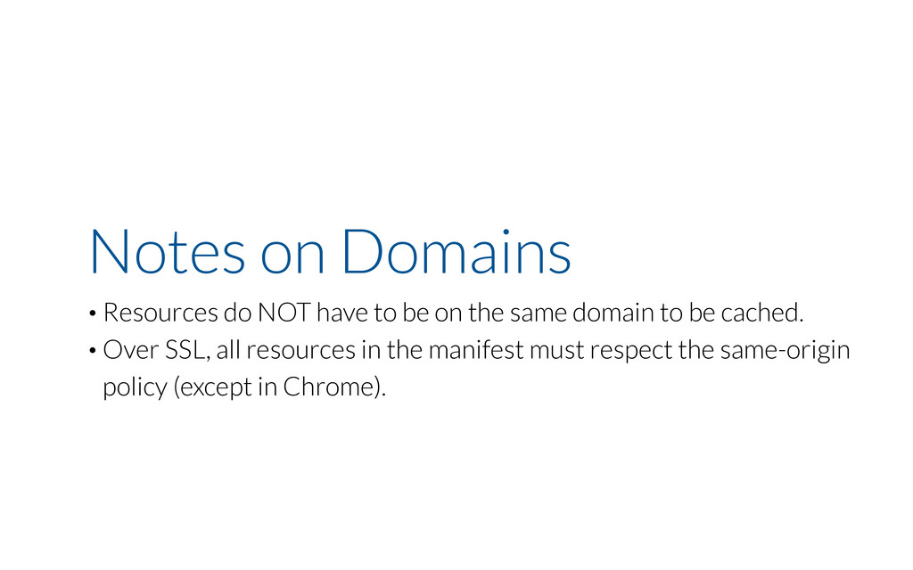 Notes on Domains • Resources do NOT have to be ...