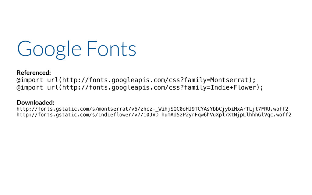 Google Fonts Referenced: @import url(http://fon...