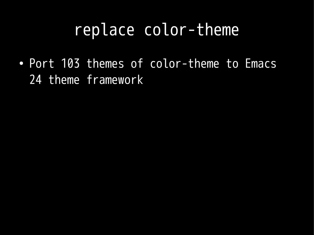 replace color-theme ● Port 103 themes of color-...