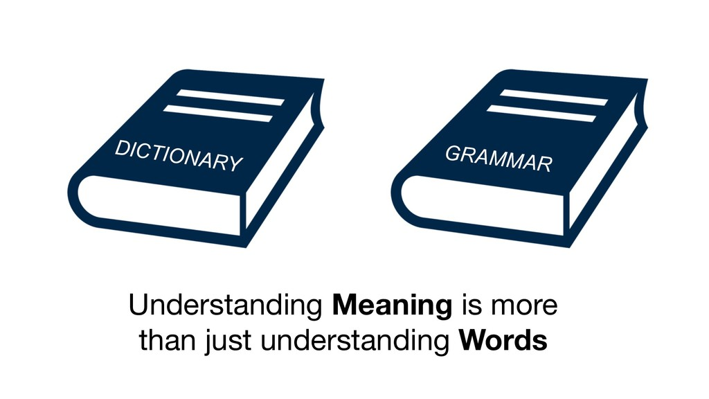 Understanding Meaning is more than just underst...
