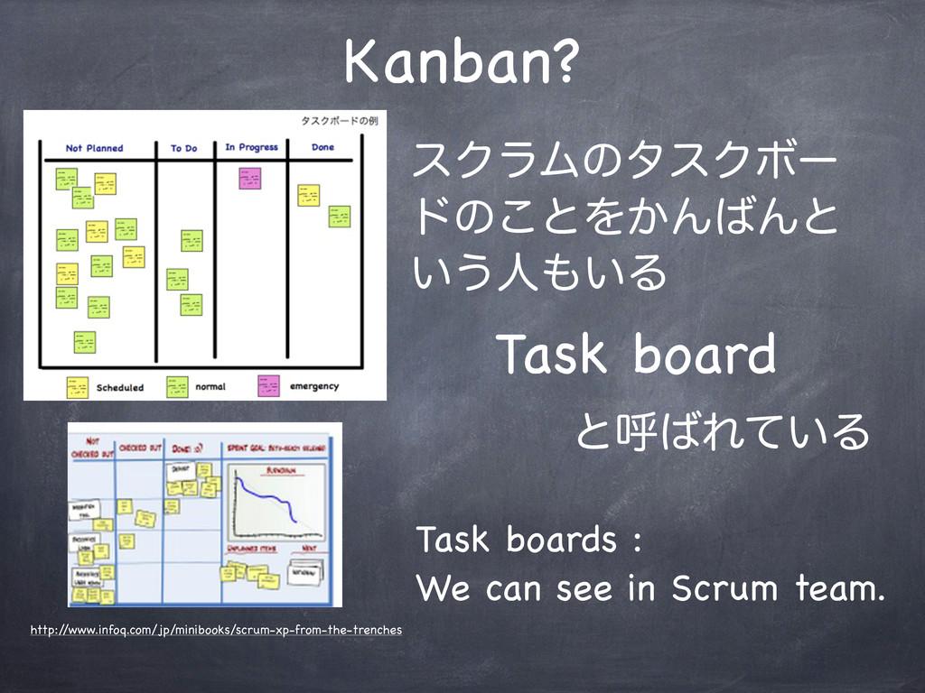 Kanban? εΫϥϜͷλεΫϘʔ υͷ͜ͱΛ͔ΜΜͱ ͍͏ਓ͍Δ Task board...