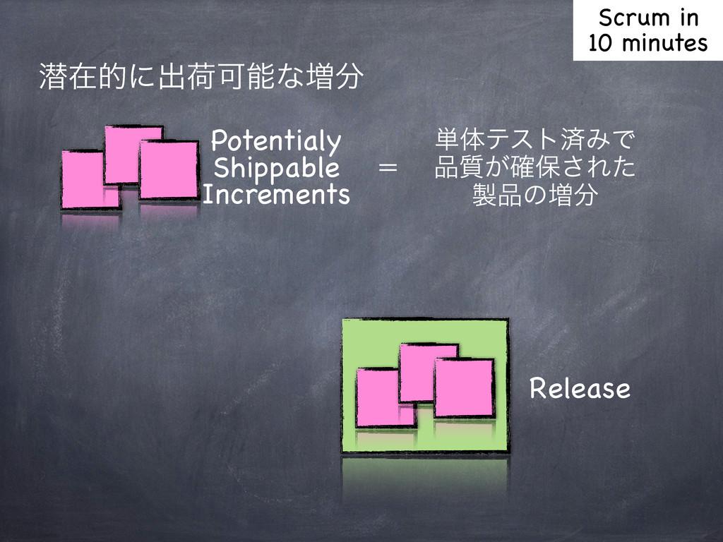 જࡏతʹग़ՙՄͳ૿ Potentialy Shippable Increments Rel...