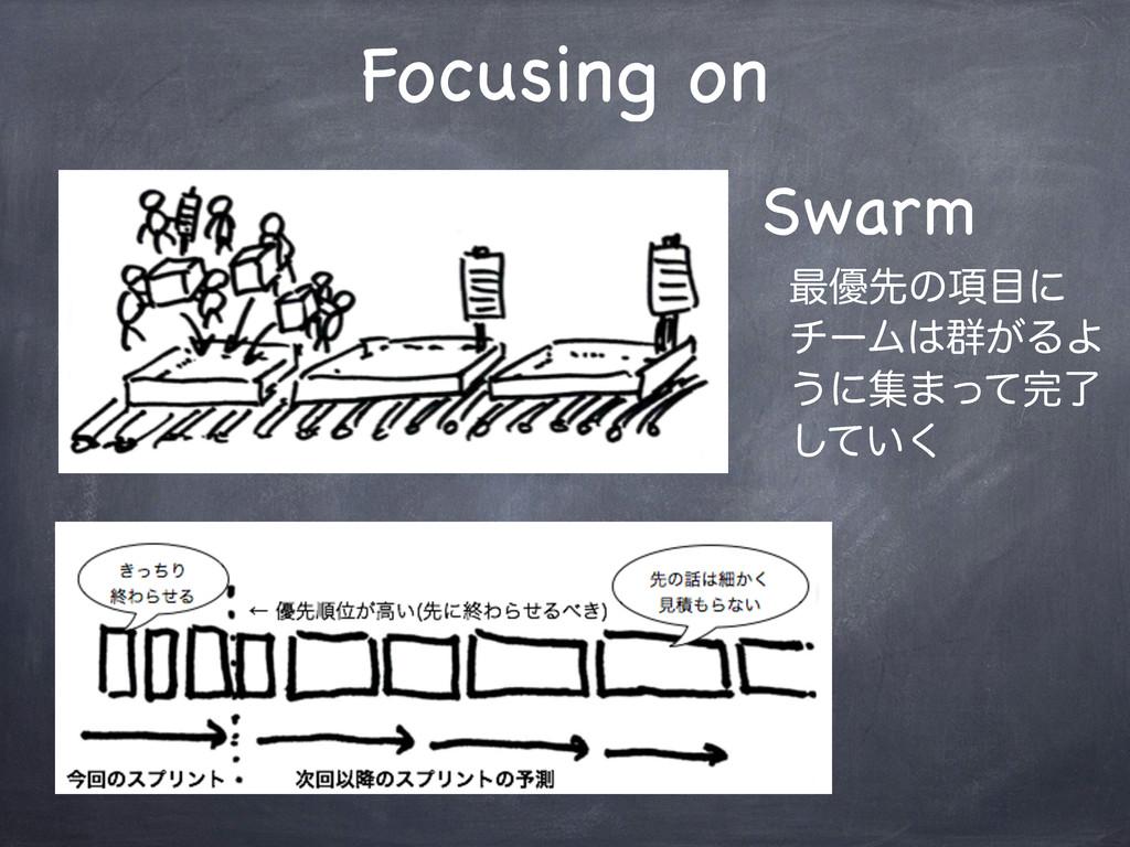 Focusing on Swarm ࠷༏ઌͷ߲ʹ νʔϜ܈͕ΔΑ ͏ʹू·ͬͯྃ ͍ͯ͘͠
