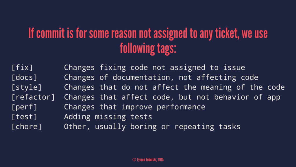 If commit is for some reason not assigned to an...