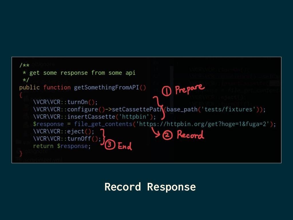 Record Response