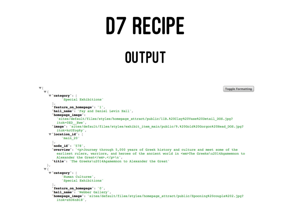 D7 RECIPE OUTPUT