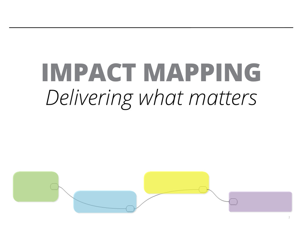 1 IMPACT MAPPING Delivering what matters