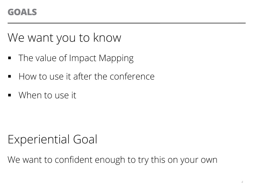 GOALS We want you to know § The value of Impa...