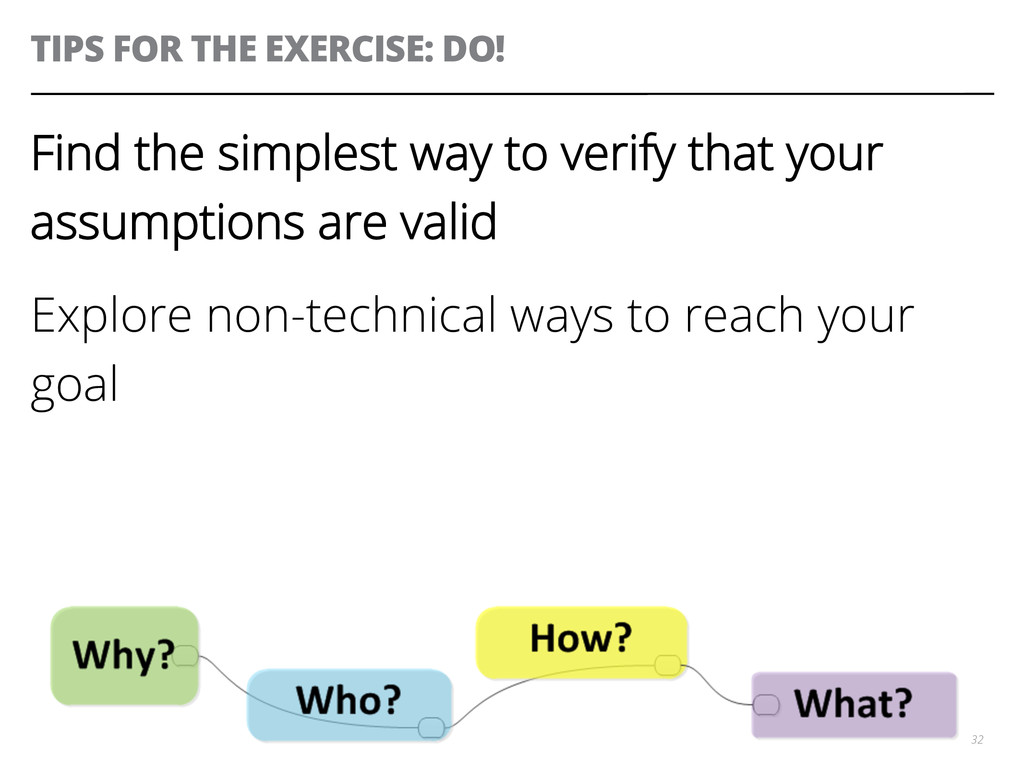 TIPS FOR THE EXERCISE: DO! 32 Find the simplest...