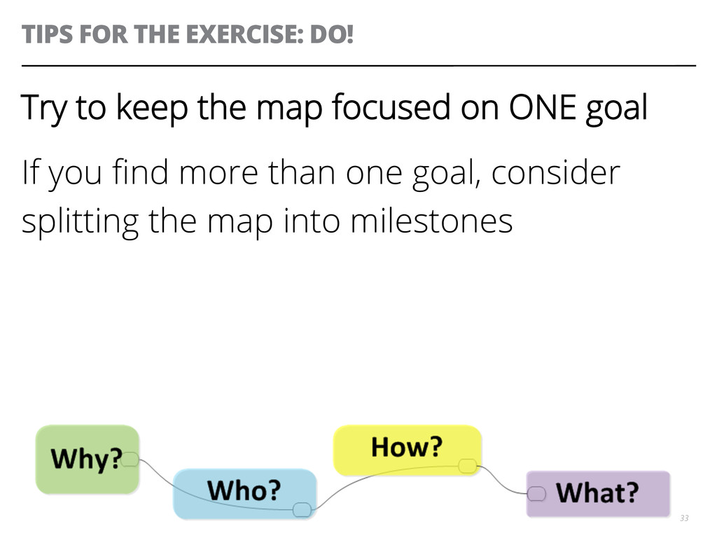 TIPS FOR THE EXERCISE: DO! 33 Try to keep the m...