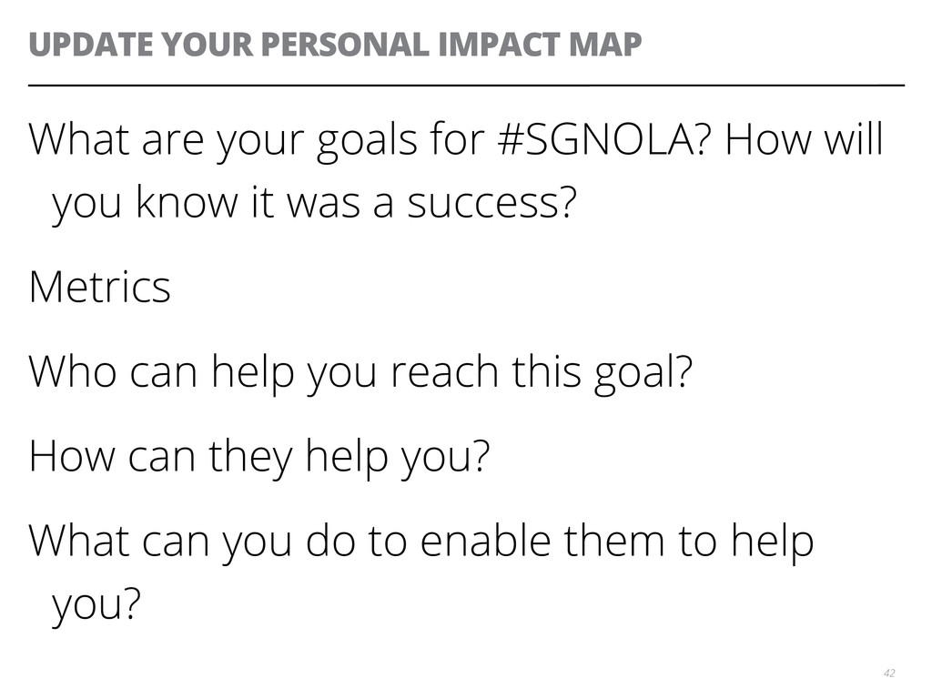 UPDATE YOUR PERSONAL IMPACT MAP What are your g...