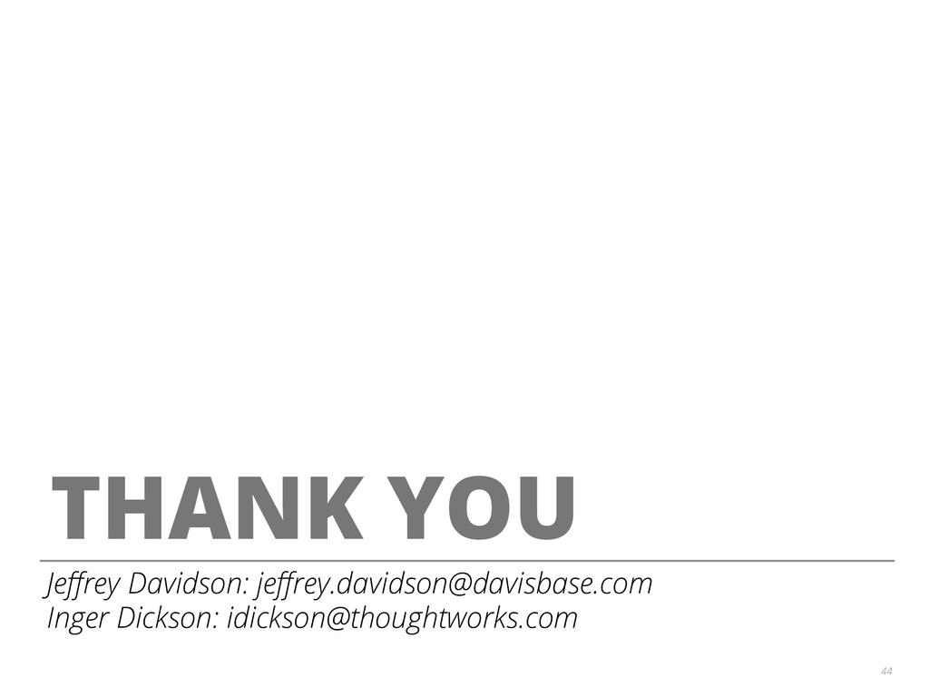 44 THANK YOU Jeffrey Davidson: jeffrey.davidson@d...