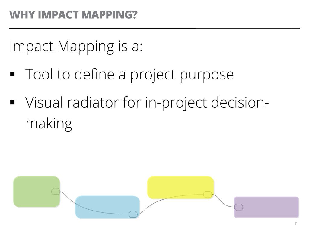 WHY IMPACT MAPPING? Impact Mapping is a: § To...