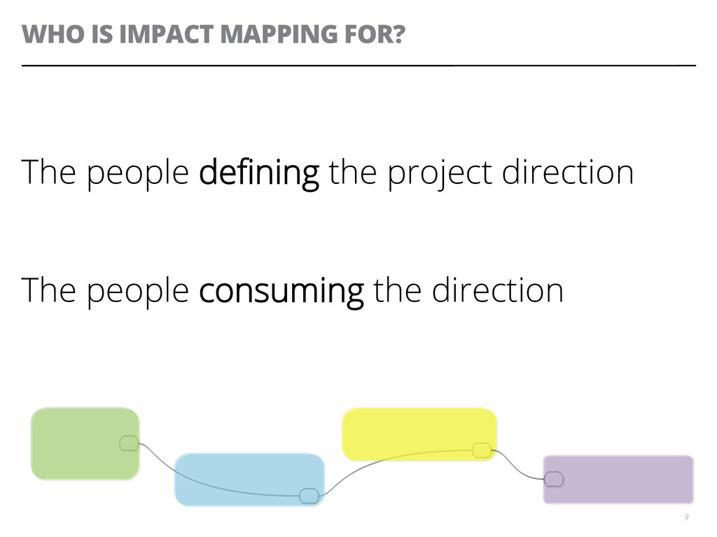 WHO IS IMPACT MAPPING FOR? The people defining t...