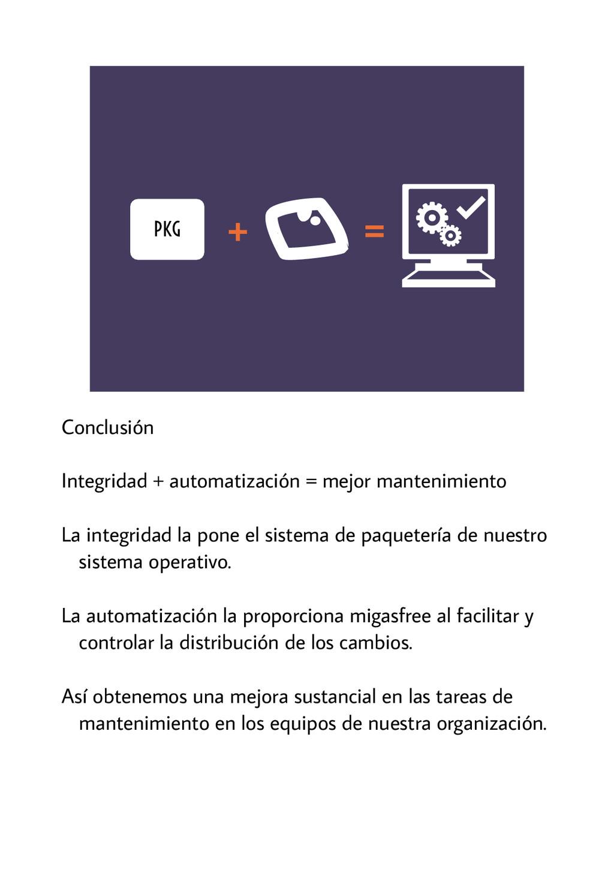 PKG + = Conclusión Integridad + automatización ...