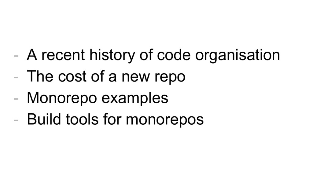 - A recent history of code organisation - The c...