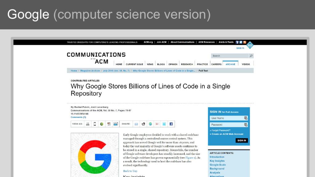 Google (computer science version)
