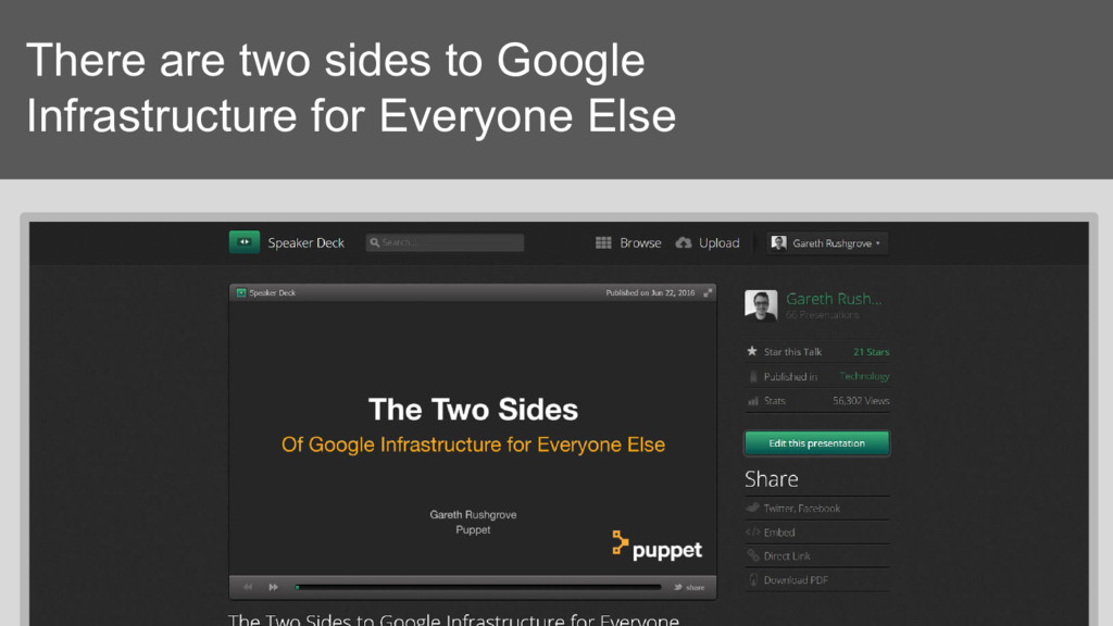 There are two sides to Google Infrastructure fo...