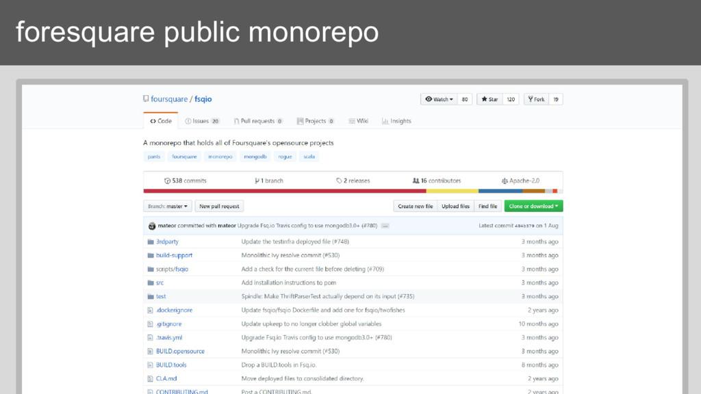 foresquare public monorepo