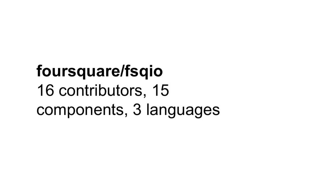 foursquare/fsqio 16 contributors, 15 components...