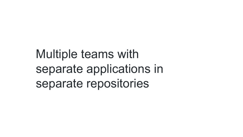 Multiple teams with separate applications in se...