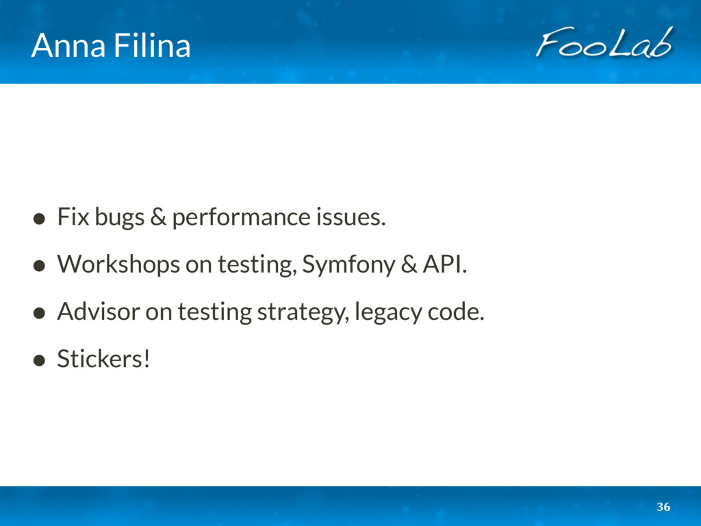 Anna Filina • Fix bugs & performance issues. • ...