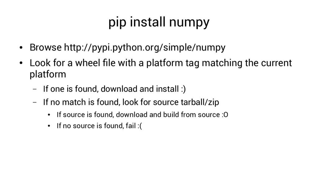 pip install numpy ● Browse http://pypi.python.o...