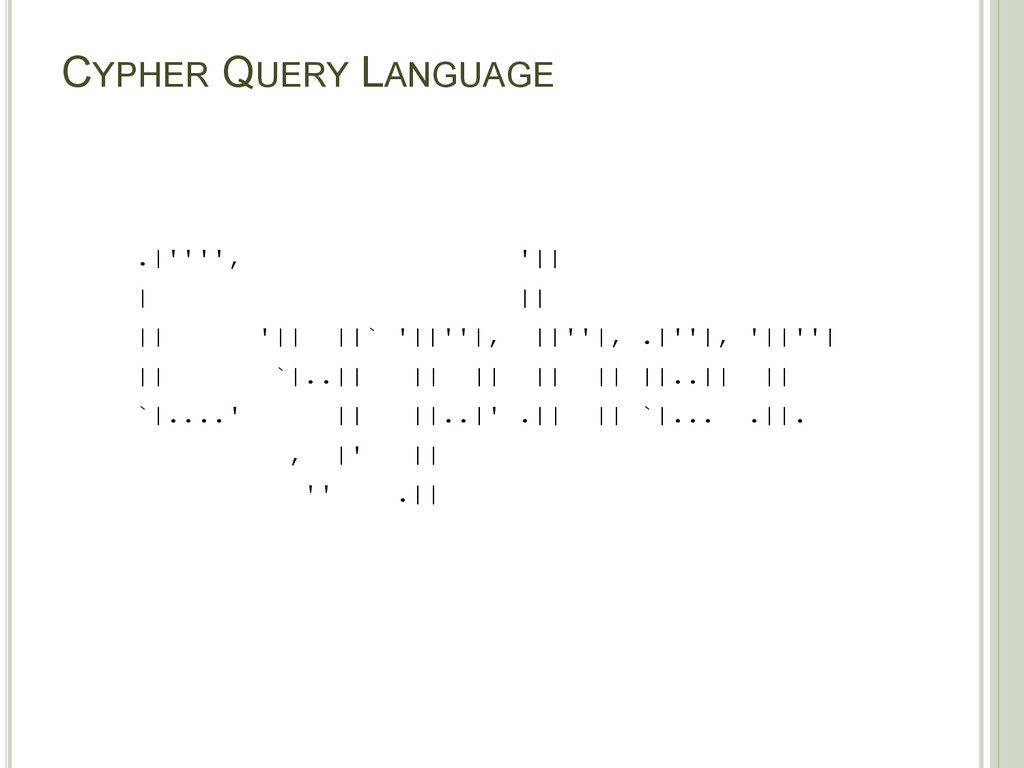 CYPHER QUERY LANGUAGE .|'''', '|| | || || '|| |...