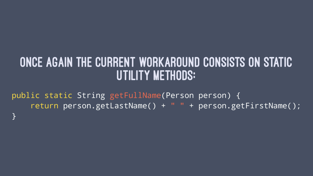 Once again the current workaround consists on s...