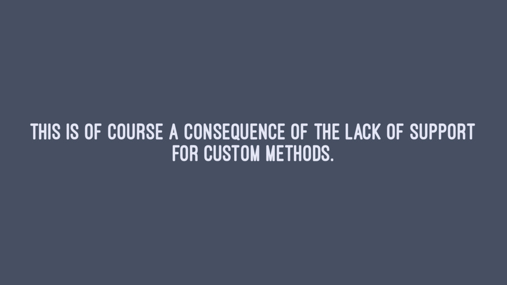 This is of course a consequence of the lack of ...