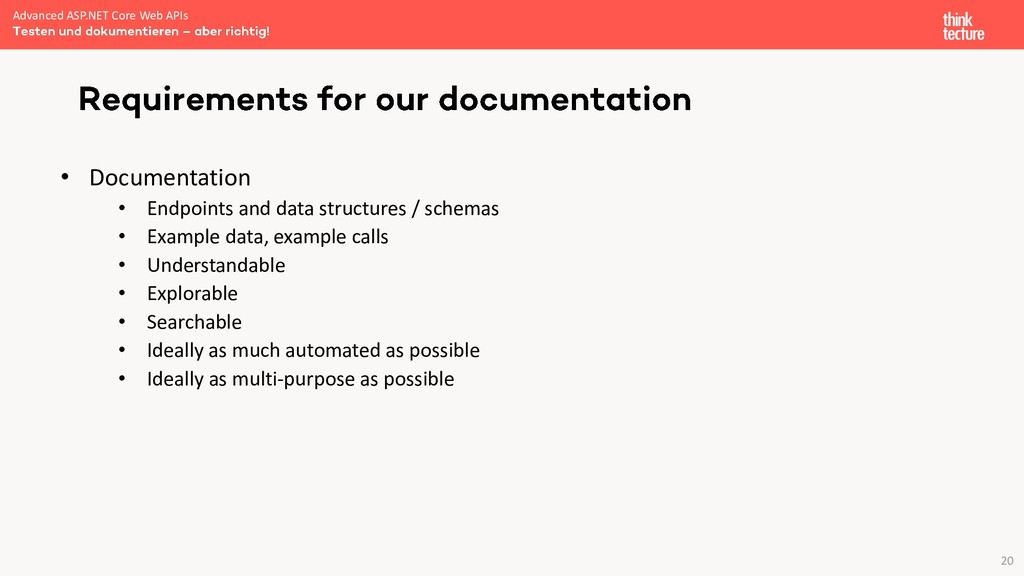 20 • Documentation • Endpoints and data structu...