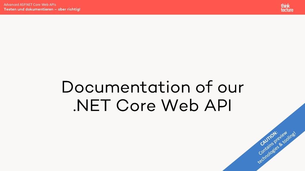 Advanced ASP.NET Core Web APIs