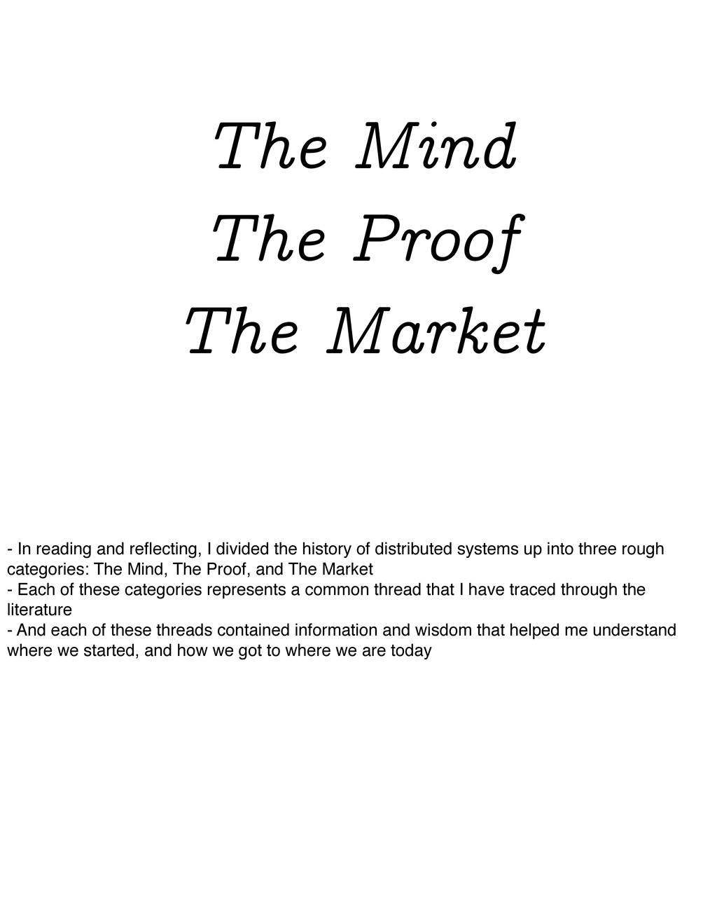 The Mind The Proof The Market - In reading and ...