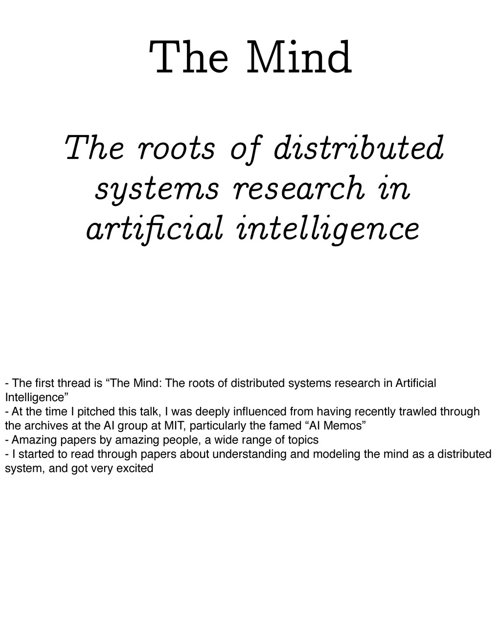 The roots of distributed systems research in ar...