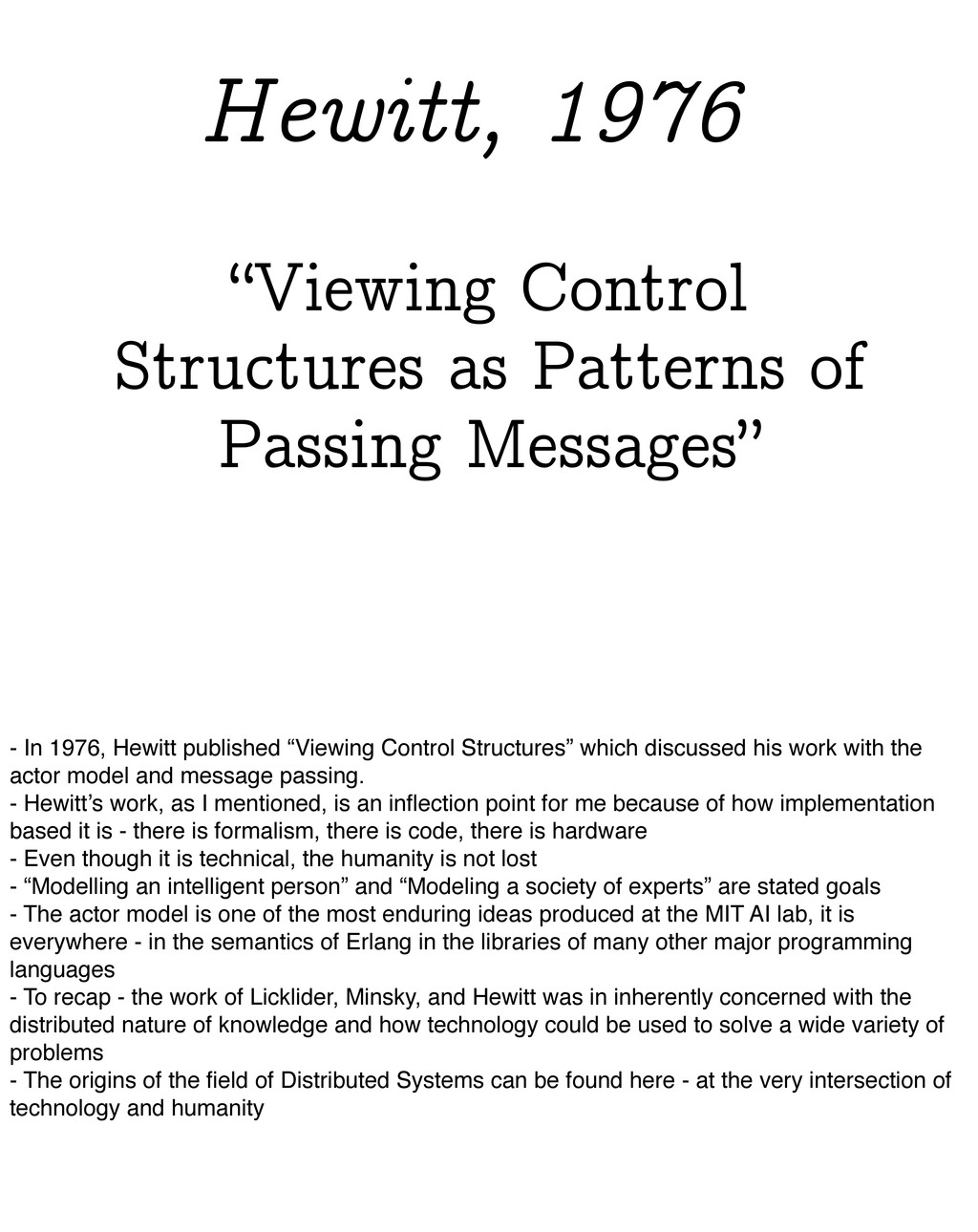 """""""Viewing Control Structures as Patterns of Pass..."""