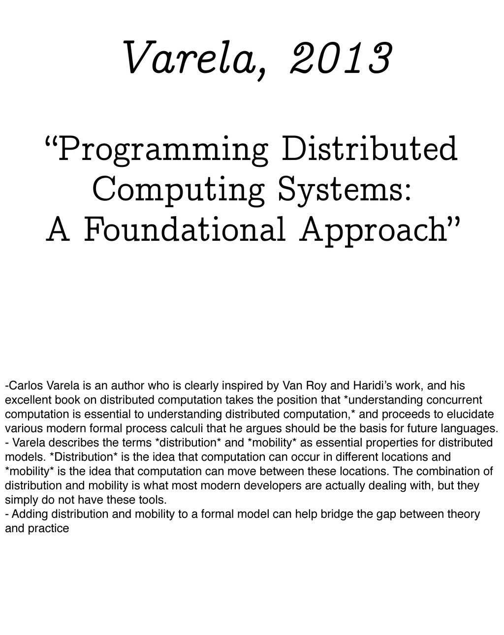 """""""Programming Distributed Computing Systems: A F..."""