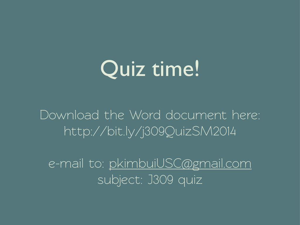 Quiz time!  Download the Word document here: h...