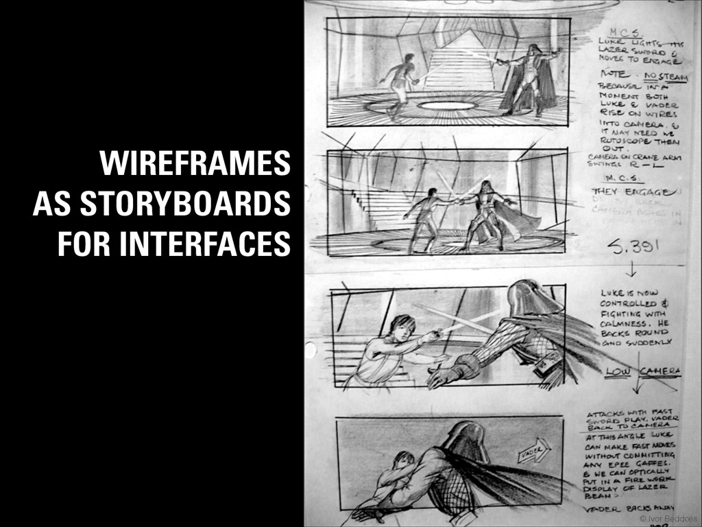 WIREFRAMES AS STORYBOARDS FOR INTERFACES © Ivor...