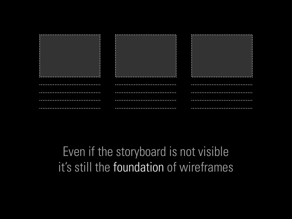 Even if the storyboard is not visible it's stil...