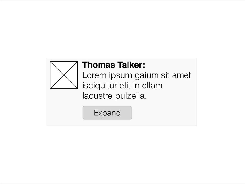 Thomas Talker:! Lorem ipsum gaium sit amet isci...