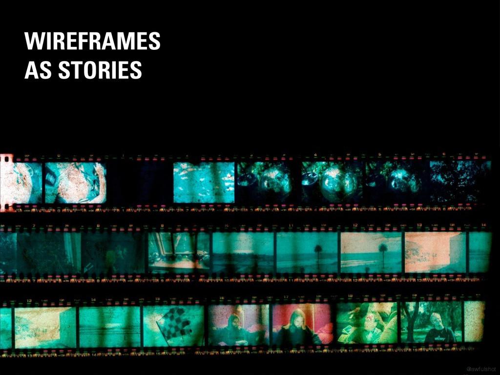 WIREFRAMES AS STORIES © Ivor Beddoes @awfulshot