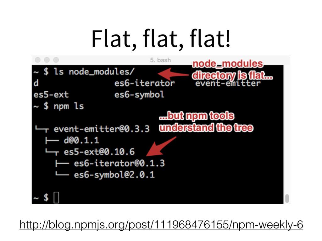 Flat, flat, flat! http://blog.npmjs.org/post/11...