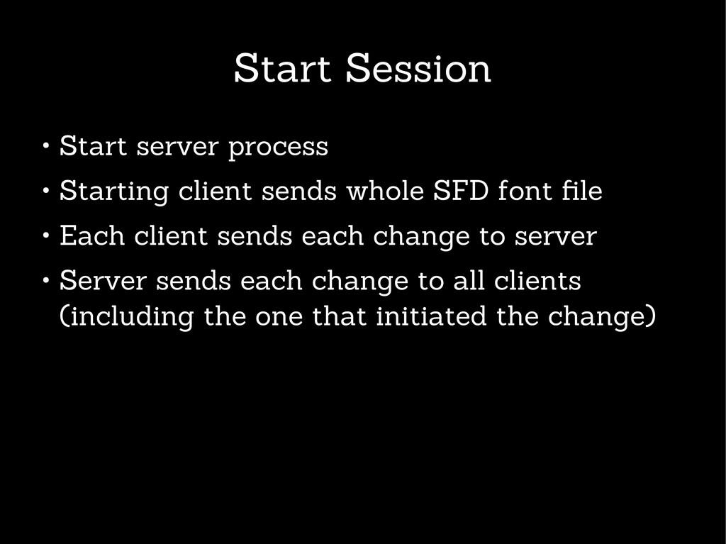 Start Session ● Start server process ● Starting...