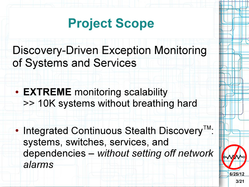 6/25/12 3/21 Project Scope Discovery-Driven Exc...