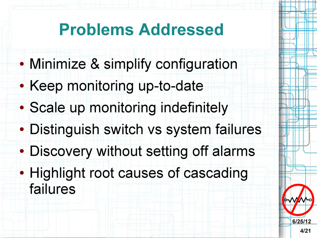 6/25/12 4/21 Problems Addressed ● Minimize & si...